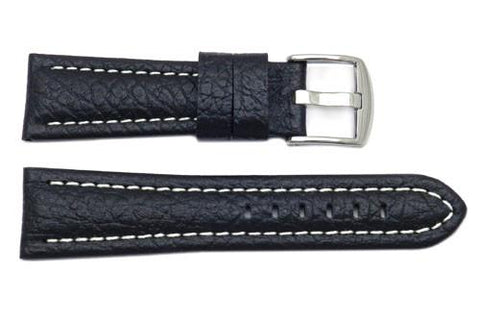 Genuine Textured Leather Panerai Contrast Stitching Watch Strap