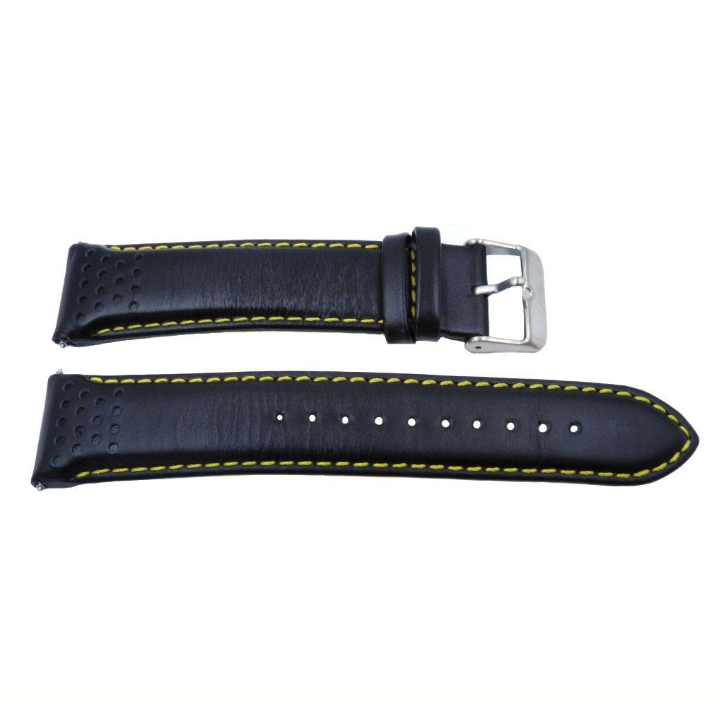 Genuine Pulsar Black Matte Finish Leather 22mm Watch Strap