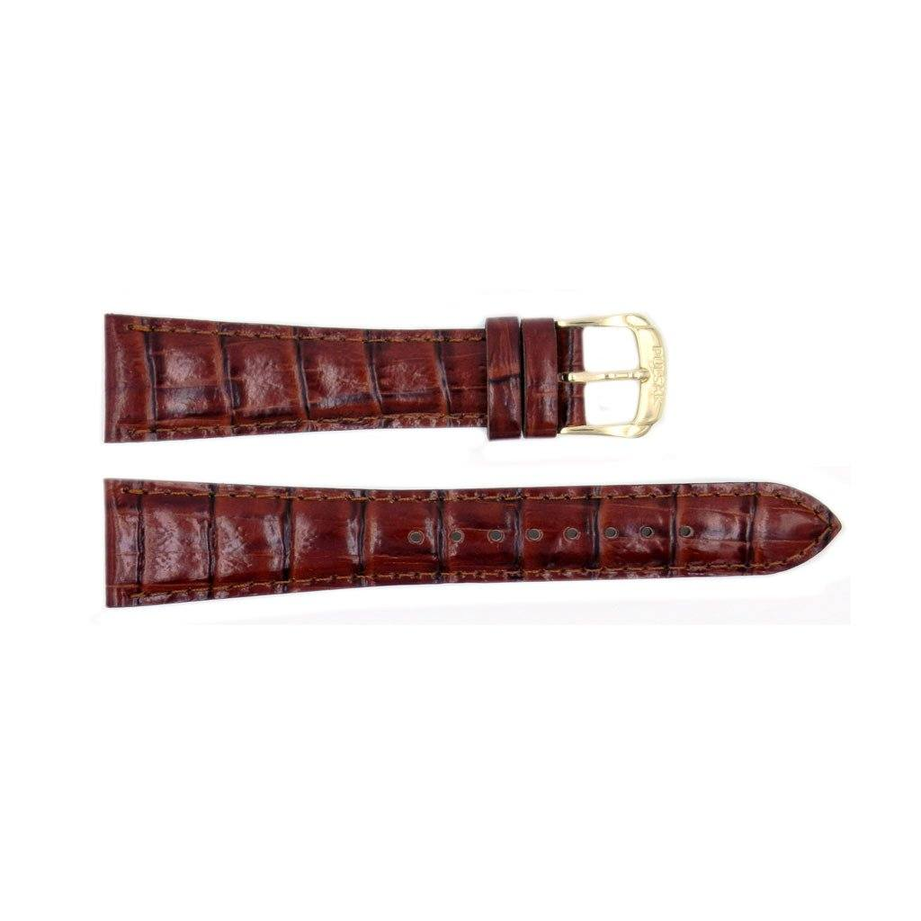 Genuine Pulsar Textured Brown Leather Crocodile Grain 20mm Watch Band