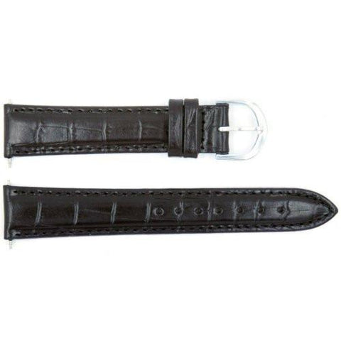 Genuine Timex Black Crocodile Grain 18mm Watch Band