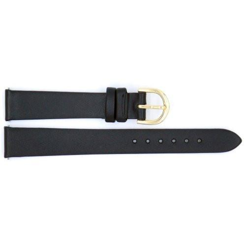 Genuine Timex Black Calfskin Smooth Leather 14mm Watch Strap