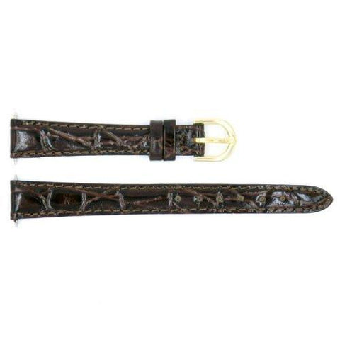 Genuine Timex Brown Ladies Crocodile Grain 13mm Watch Band