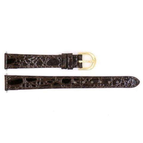 Genuine Timex Ladies Brown Crocodile Grain 12mm Watch Band