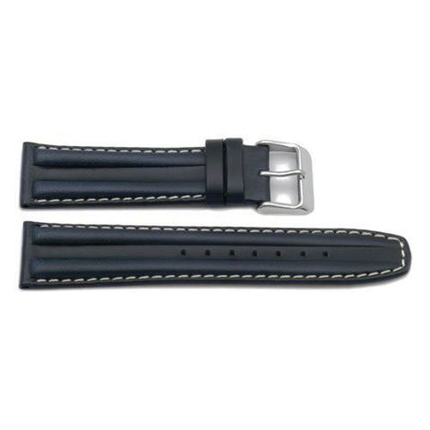 Genuine Oil-Tanned Italian Calfskin Leather Double Hump Watch Strap