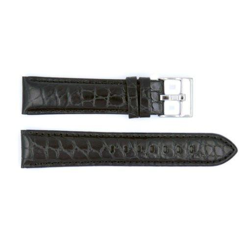 Genuine Crocodile Grain Leather Semi-Gloss Watch Strap