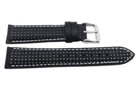 Genuine Italian Calfskin Colored Dot Pattern Matching Stitching Watch Band