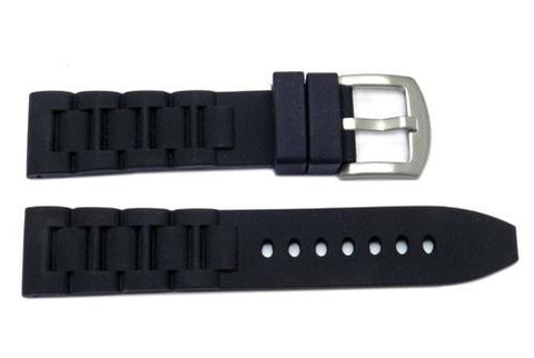 Silicone Heavy Duty New Link Style Watch Strap