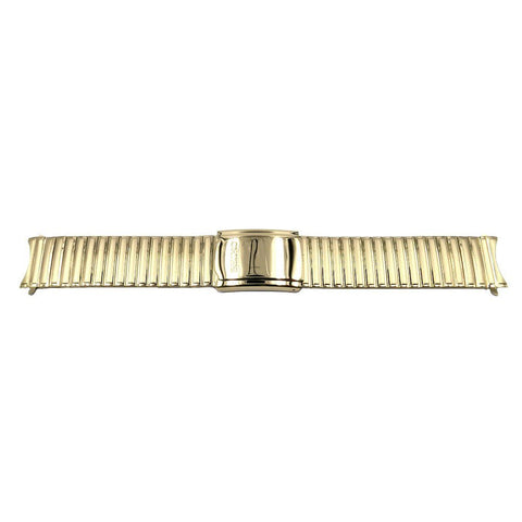 Genuine Seiko Gold Tone Fold Over Clasp 20mm Expansion Watch Bracelet