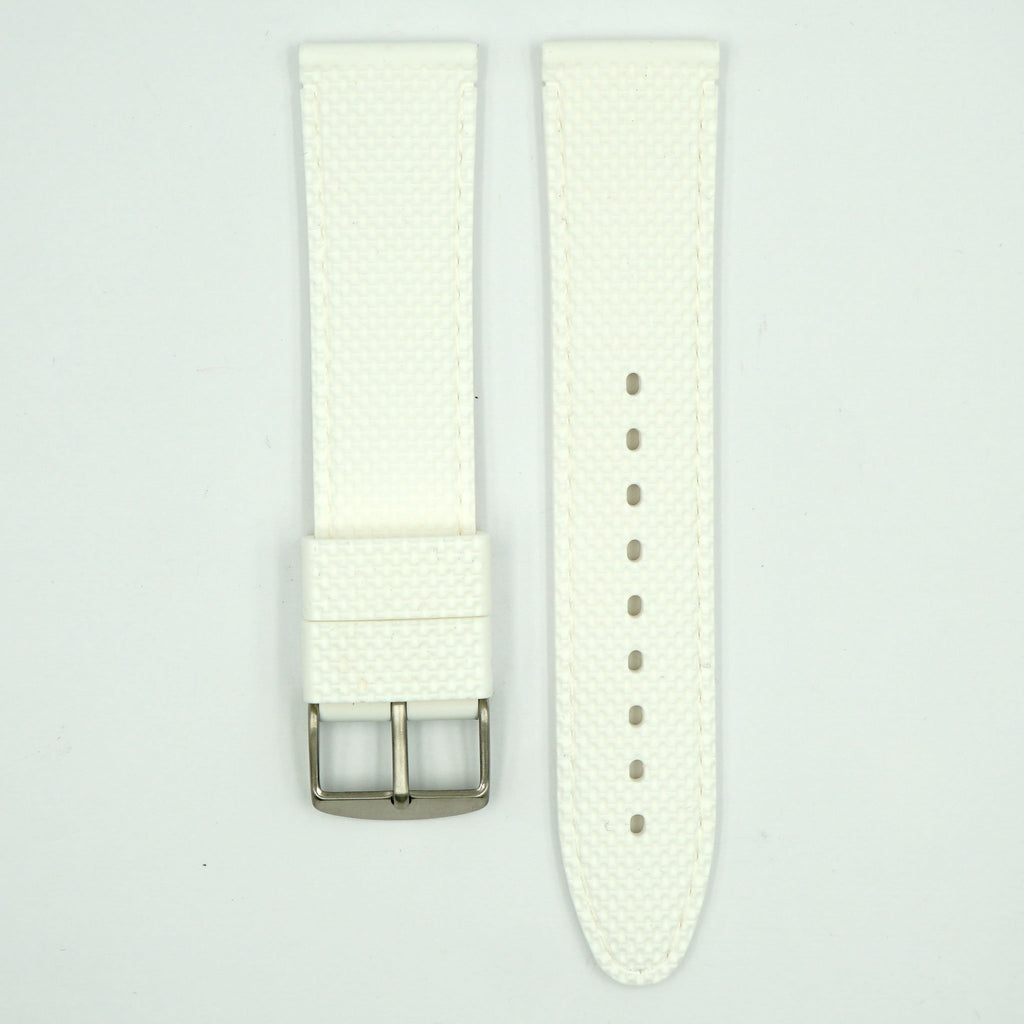 Silicone White Sport Watch Strap image