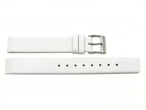 Genuine Skagen White Leather 14mm Watch Strap - Screws