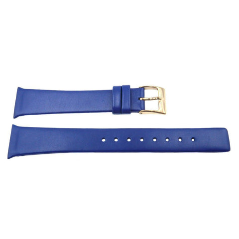 Genuine Skagen Ladies Blue Smooth Leather 19mm Watch Strap - Screws