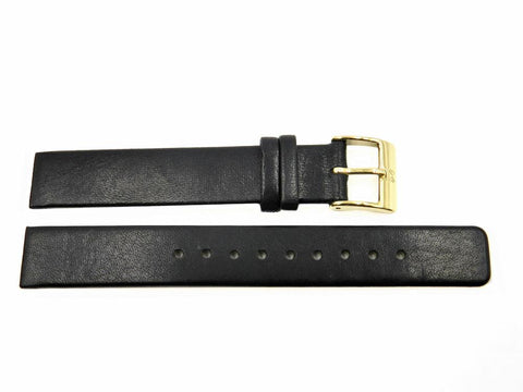Genuine Skagen Black Leather 14mm Watch Strap - Screws