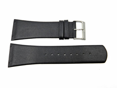 Genuine Skagen Black Genuine Leather 30mm Watch Strap - Screws