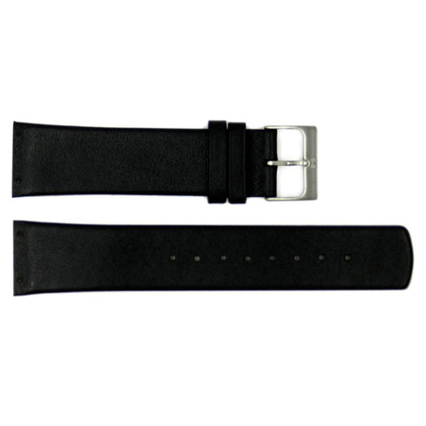 Genuine Skagen Black Genuine Leather 24mm Watch Strap - Screws