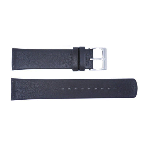 Genuine Skagen Black Smooth Leather 20mm Watch Strap - Screws