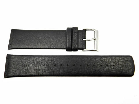 Genuine Skagen Black Genuine Leather 23mm Watch Strap - Screws