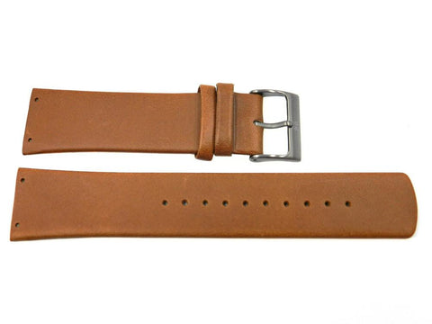 Genuine Skagen Brown Genuine Leather 23mm Watch Strap - Screws