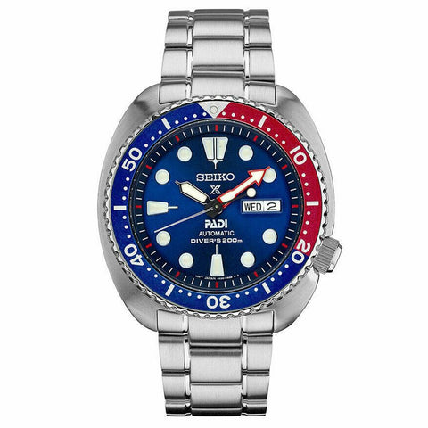 Seiko Padi Automatic Prospex Pepsi Turtle Divers 200M Men's Watch SRPA21