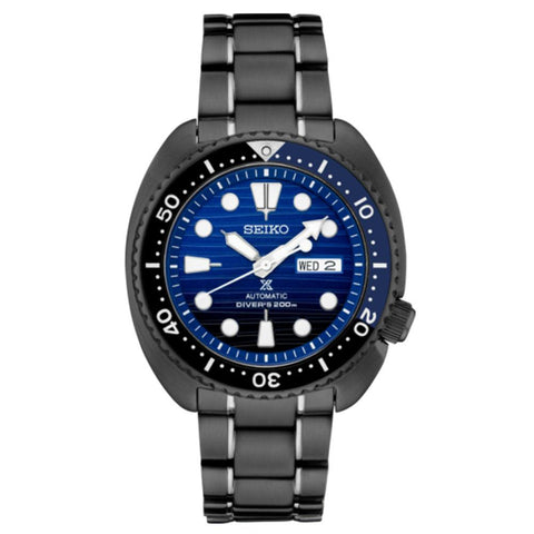 Seiko SRPD11 Prospex Blue Dial Black Stainless Steel Turtle 45mm Watch