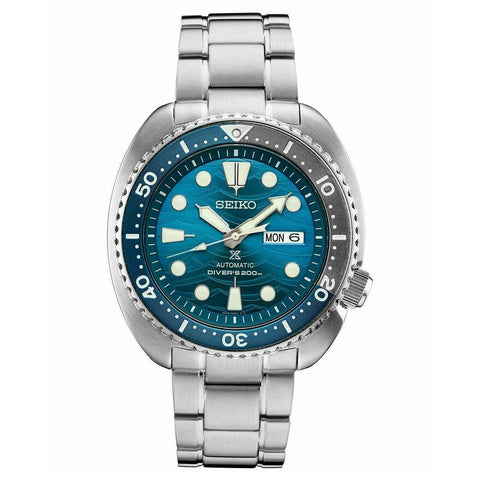Seiko SRPD21 Prospex Turtle Save The Ocean Blue Dial 45mm Case Watch