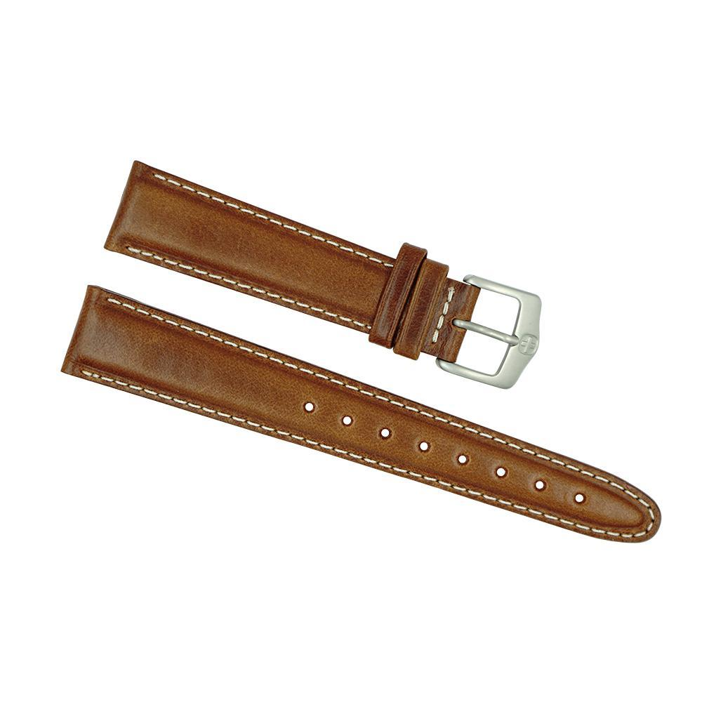 Wenger Men's 19mm Brown Genuine Leather Watch Strap