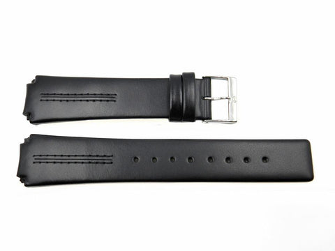 Genuine Skagen Black Genuine Leather 20mm Watch Strap - Pins