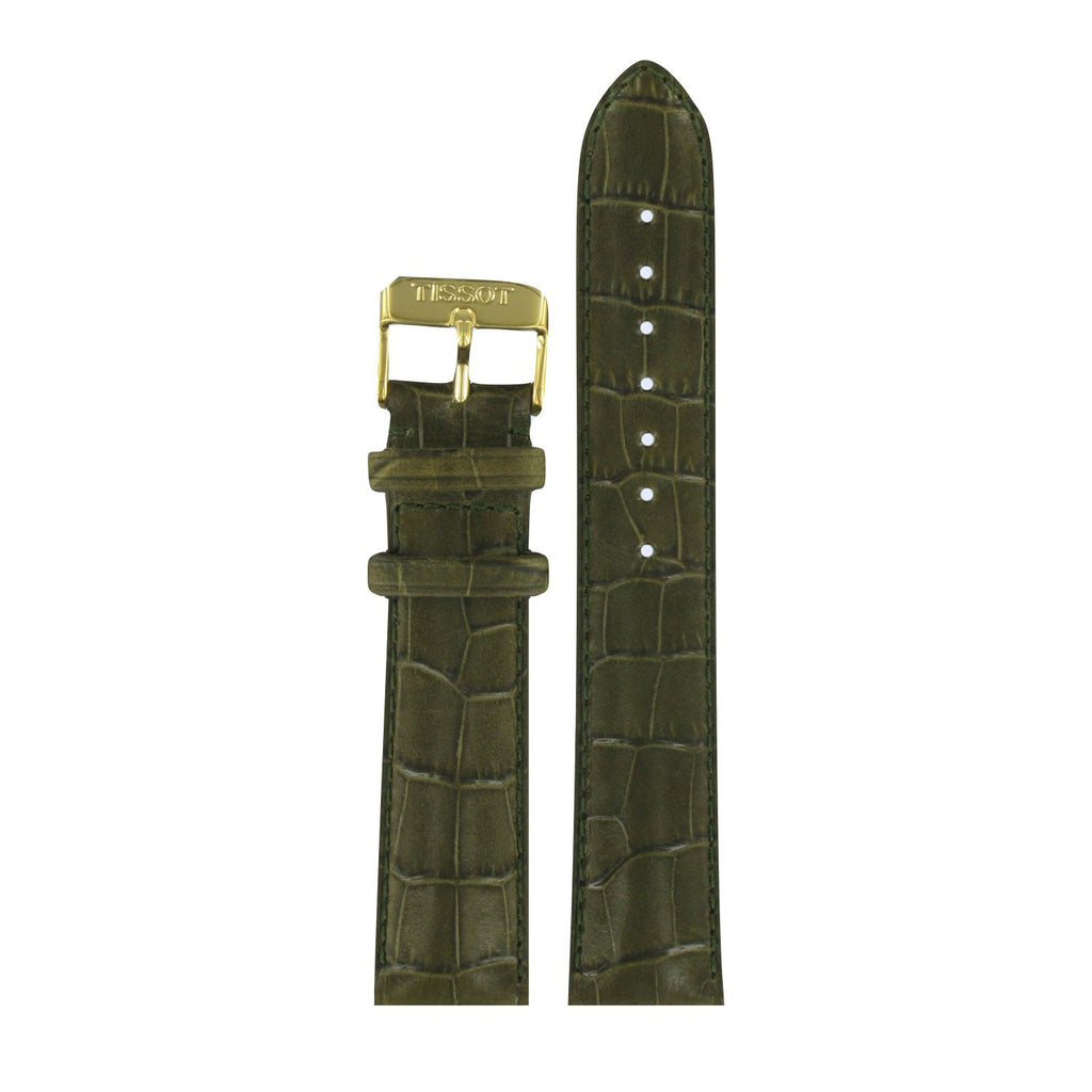 Genuine Tissot 20mm Retro Green Leather Strap by Tissot