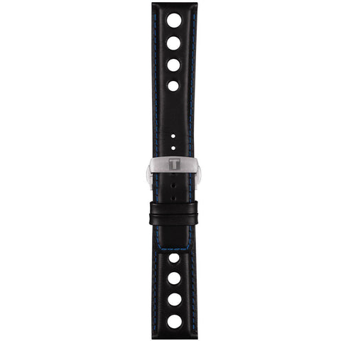 TISSOT ALPINE 22MM BLACK LEATHER STRAP
