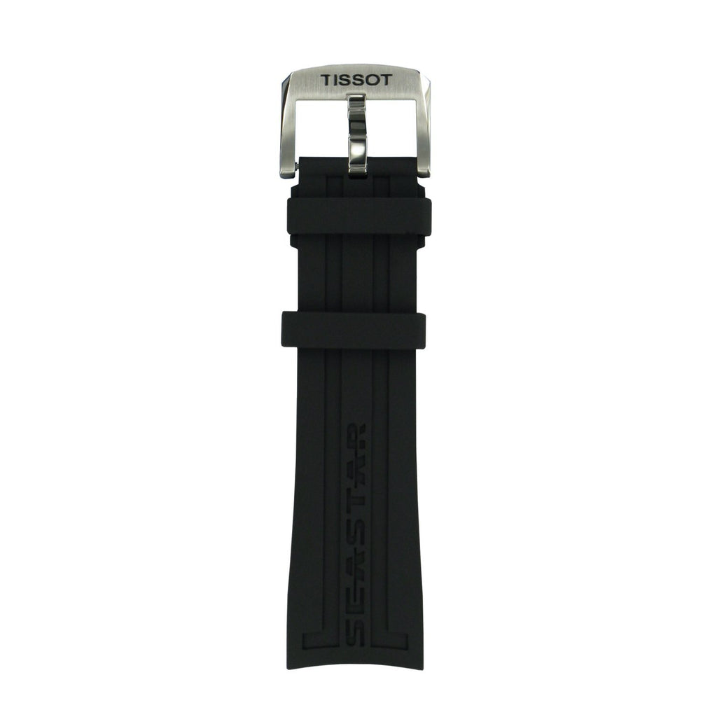 Genuine Tissot 23mm Seastar 1000 Black Silicone Rubber Strap by Tissot