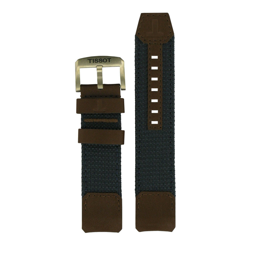 Tissot Strap T604036911 T-Touch Solar Blue Leather Strap 22mm image