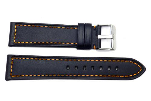 Genuine Leather With Contrast Stitching Replacement Watch Strap