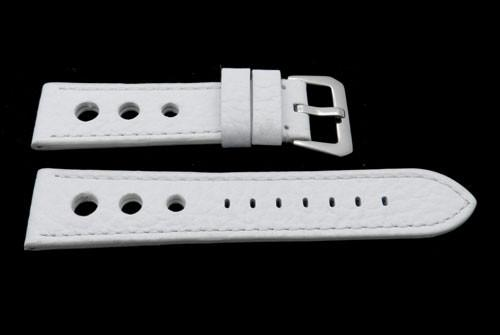 Genuine Calfskin Leather Sport Panerai Style Three Holes Watch Strap image