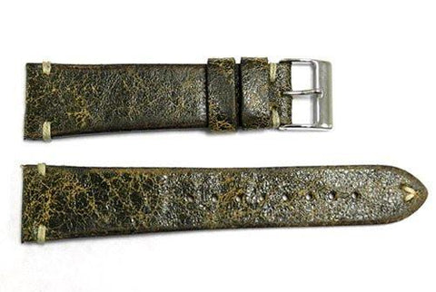 Vintage Handmade Stitched Distressed Leather Watch Band