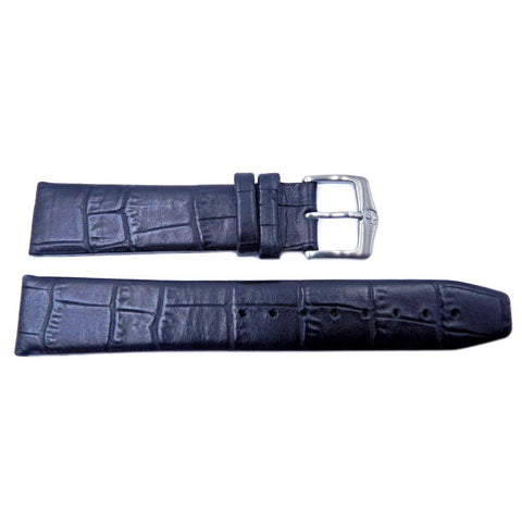 Genuine Wenger Escort Mens Black Alligator Grain 20mm Watch Strap