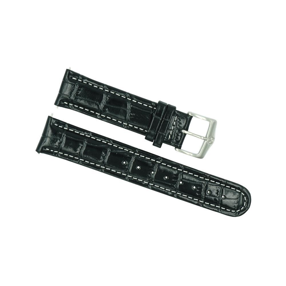 Wenger 21mm Men's Black Alligator Grain Watch Strap