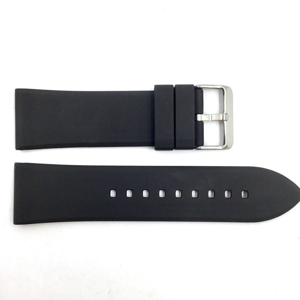 Bandenba YHH0222 Black 20mm-28mm Rubber Watch Band
