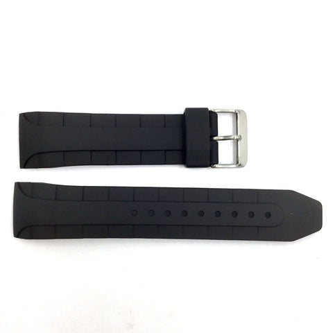 Bandenba YH9342 Black Rubber 24mm Watch Band