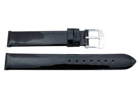 ZRC Varnished Series Genuine Calf Leather Waterproof Watch Strap
