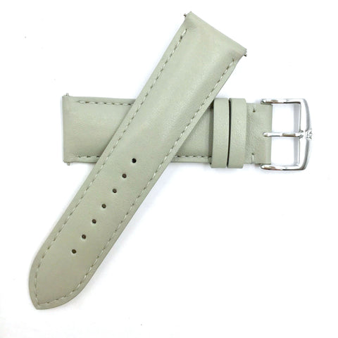 ZRC 301 Gray Genuine Leather 16mm-22mm Watch Band