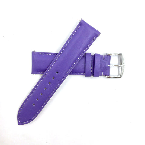 ZRC 301 Purple Genuine Leather 16mm-22mm Watch Band