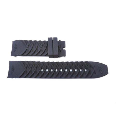 Generic Invicta S1 Rally Black 24mm Silicone Replacement Watch Strap