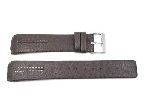 Skagen Style Brown Leather Textured 20mm Watch Strap - Installs With Screws