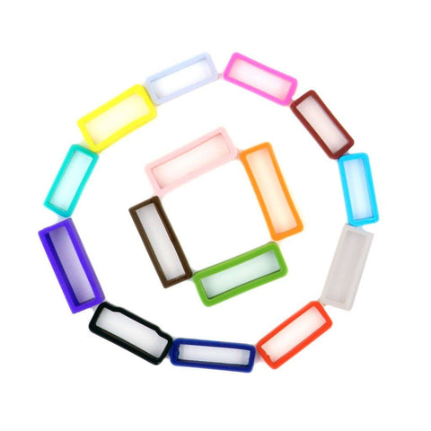 Durable Smooth Silicone Rubber Keeper Loops - Assorted Colors