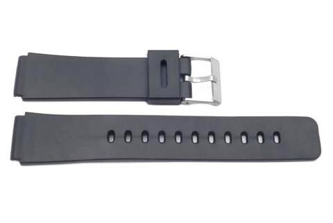 Casio Style Replacement 19mm Black Watch Band - P3034