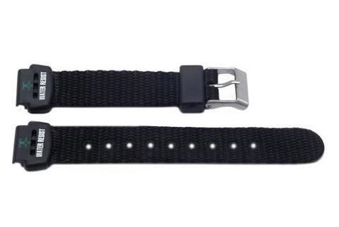Genuine Nylon Black Flat Water Resistant Watch Band - P3070