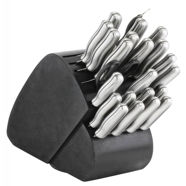 34-piece Knife Set - Steel Handles