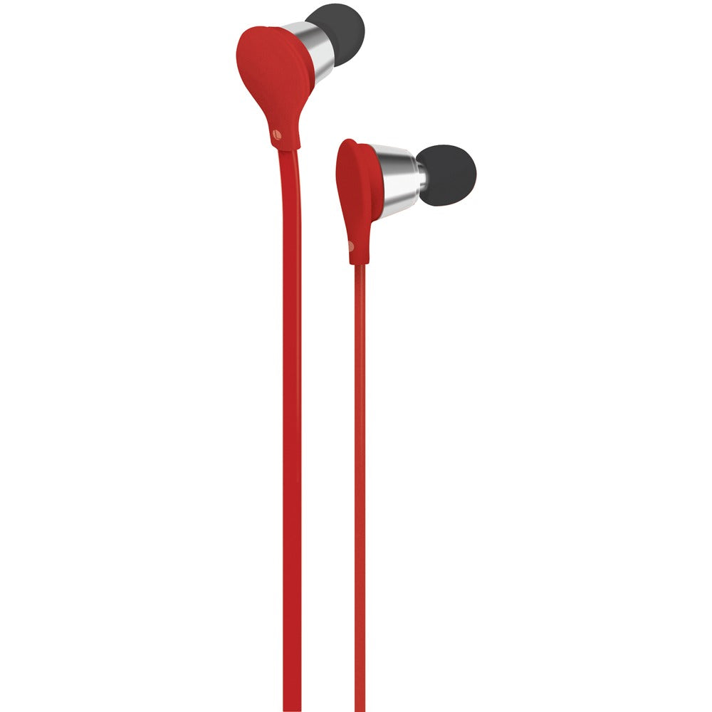 At&t Jive Noise-isolating Earbuds With Microphone (red)