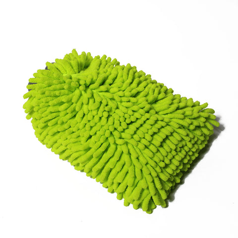 Ultra Green Chenille Wash Mitt