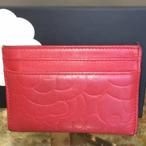 Chanel Red Lambskin Wallet 5756 (Authentic Pre-owned)
