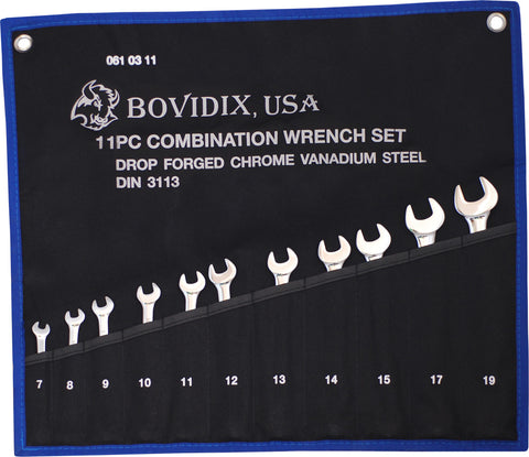 11 PC Combination Wrench Set, Metric